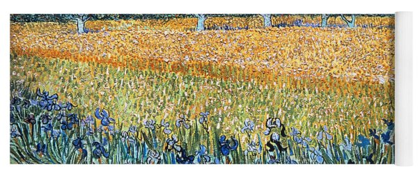 Field With Flowers Near Arles Yoga Mat