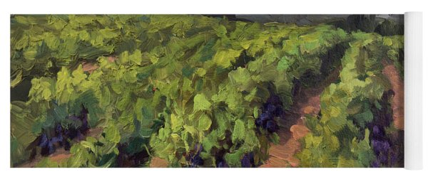 Vineyard At Dentelles Yoga Mat