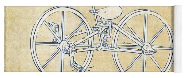 Vintage 1869 Velocipede Bicycle Patent Artwork Yoga Mat