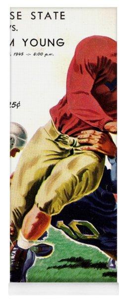 Vintage American Football Poster Yoga Mat