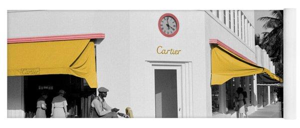 Vintage Cartier Store Yoga Mat