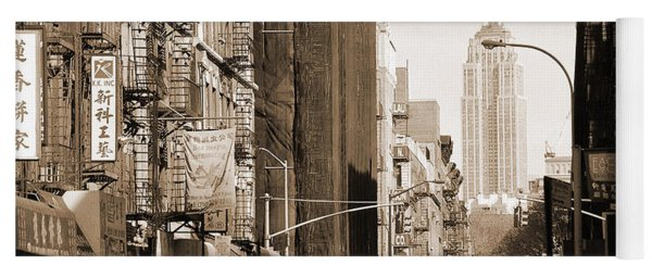 Vintage Chinatown And Empire State Yoga Mat