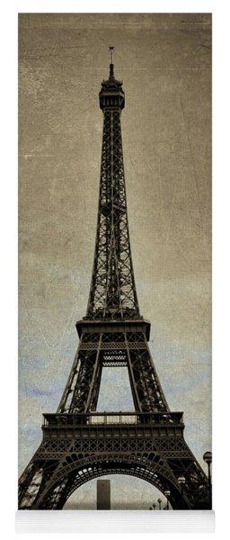 Vintage Eiffel Bronze Yoga Mat