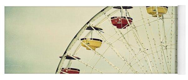 Vintage Ferris Wheel Yoga Mat