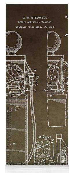 Vintage Gas Pump Patent Yoga Mat