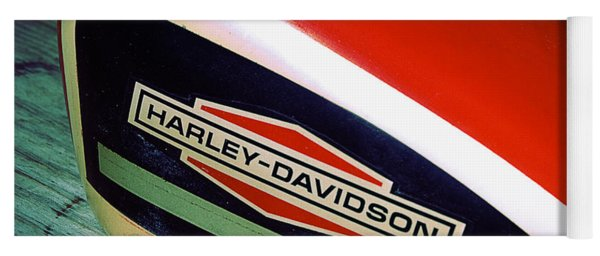 Vintage Harley Davidson Gas Tank Yoga Mat