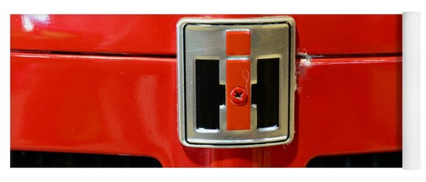Vintage International Harvester Tractor Badge Yoga Mat