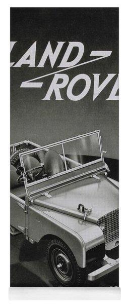 Vintage Land Rover Advert Yoga Mat