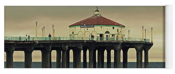 Vintage Manhattan Beach Pier Yoga Mat