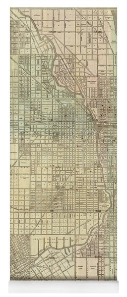 Vintage Map Of Chicago - 1857 Yoga Mat