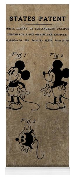 Vintage Mickey Mouse Patent Yoga Mat