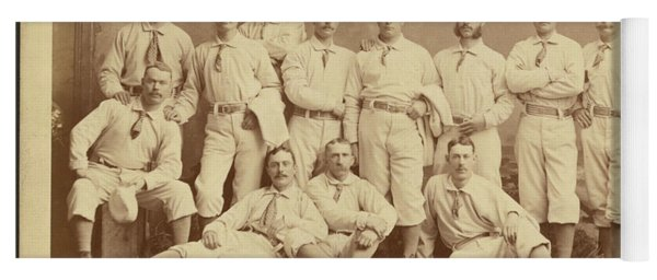 Vintage Photo Of Metropolitan Baseball Nine Team In 1882 Yoga Mat