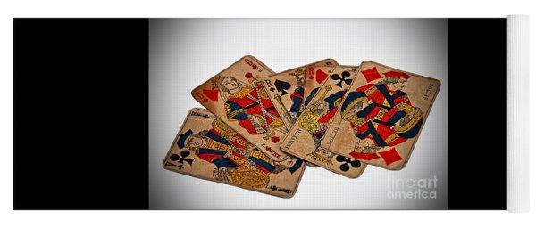 Vintage Playing Cards Art Prints Yoga Mat