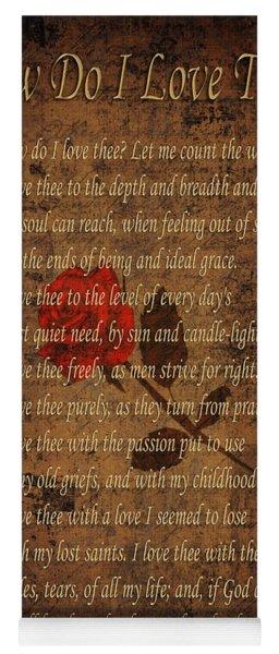 Vintage Poem 4 Yoga Mat