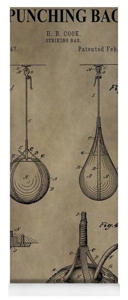 Vintage Punching Bag Patent Yoga Mat