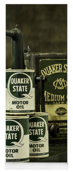 Vintage Quaker State Motor Oil Yoga Mat