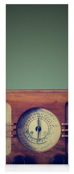 Vintage Radio Yoga Mat