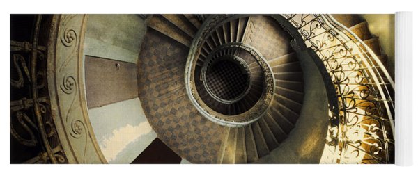 Vintage Spiral Staircase Yoga Mat