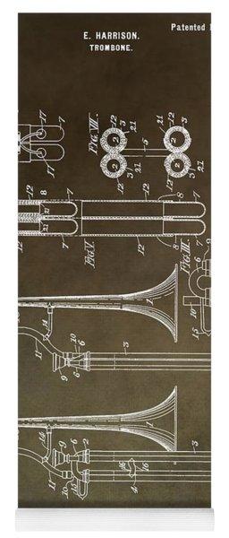 Vintage Trombone Patent Yoga Mat