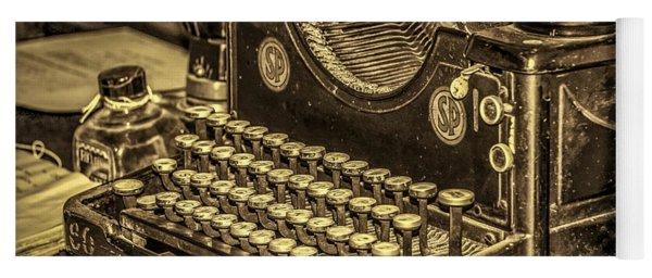 Vintage Typewriter Yoga Mat