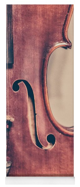 Vintage Violin Portrait 2 Yoga Mat