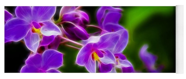 Violet Blooms Yoga Mat