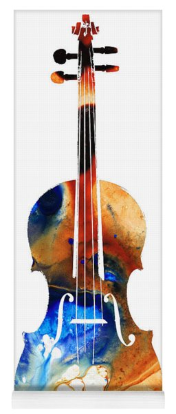 Violin Art By Sharon Cummings Yoga Mat