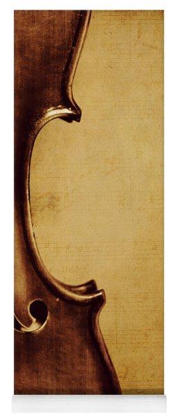 Violin Portrait  Yoga Mat