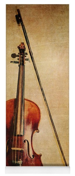 Violin With Bow Yoga Mat