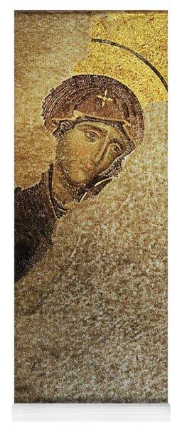 Virgin Mary-detail Of Deesis Mosaic  Hagia Sophia-day Of Judgement Yoga Mat