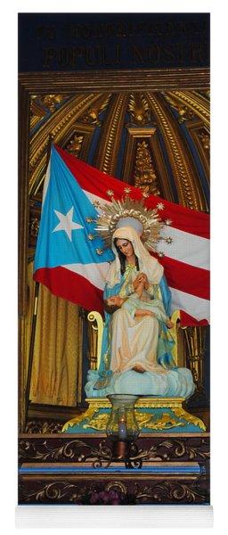 Virgin Mary In Church Yoga Mat