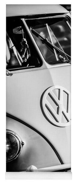 Volkswagen Vw Bus Emblem -1355bw Yoga Mat
