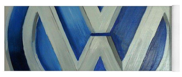 Vw Logo Blue Yoga Mat