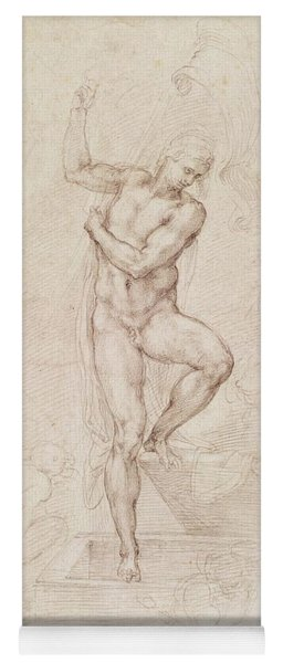 W53r The Risen Christ Study For The Fresco Of The Last Judgement In The Sistine Chapel Vatican Yoga Mat