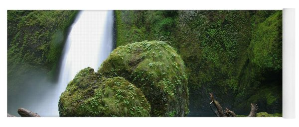Wahclella Falls And Boulder Yoga Mat