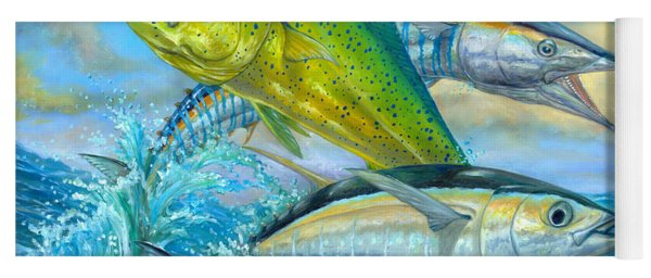 Wahoo Mahi Mahi And Tuna Yoga Mat