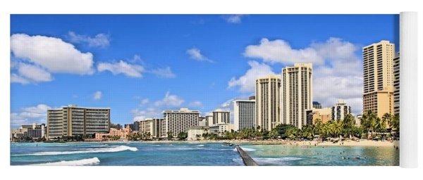 Waikiki Beach Hawaii Yoga Mat