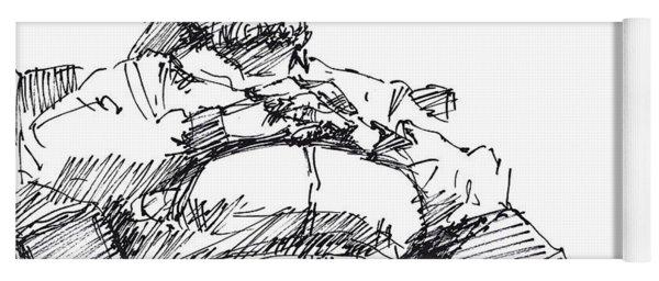 Waiting Room Nap Sketch Yoga Mat