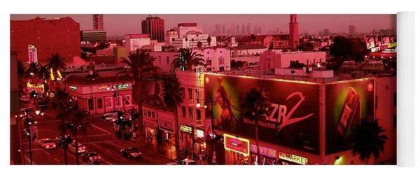 Walk Of Fame Hollywood At Pink Sunset Yoga Mat