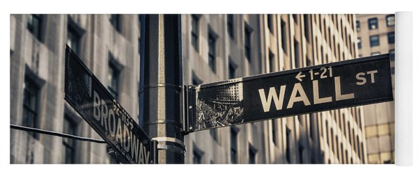 Wall Street Sign Yoga Mat