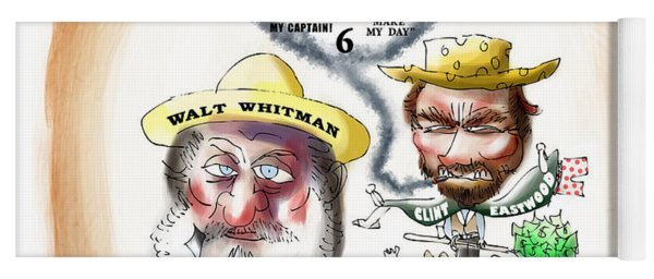 Walt Whitman Meets Clint Eastwood Yoga Mat
