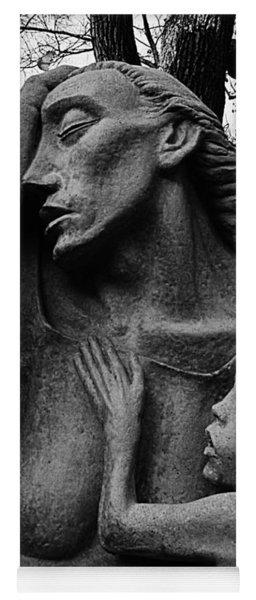 War Mother By Charles Umlauf In Black And White Yoga Mat