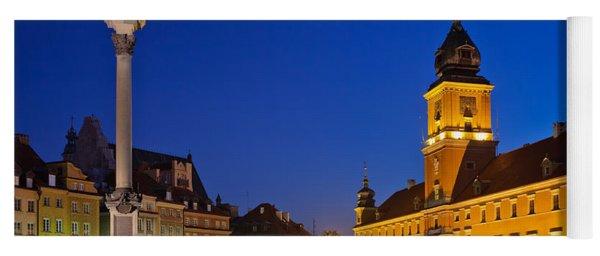 Warsaw By Night Yoga Mat