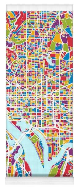 Washington Dc Street Map Yoga Mat