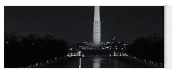 Washington Monument At Night Yoga Mat