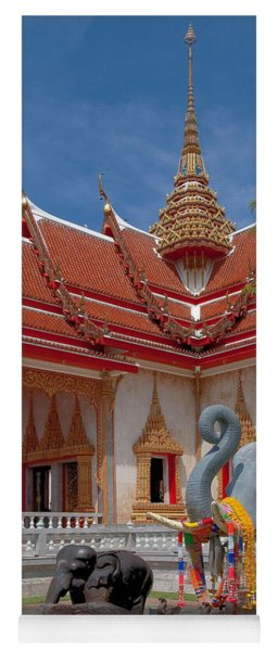 Wat Chalong Wiharn And Elephant Tribute Dthp045 Yoga Mat