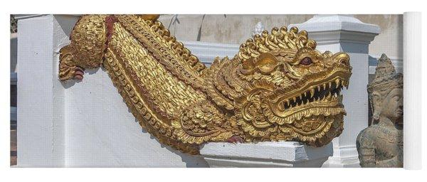Wat Chedi Liem Phra Ubosot Gate Makara Dthcm0836 Yoga Mat