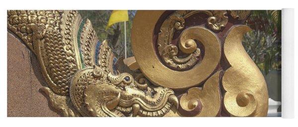 Wat Chedi Liem Phra Ubosot Makara And Stylized Naga Dthcm0838 Yoga Mat