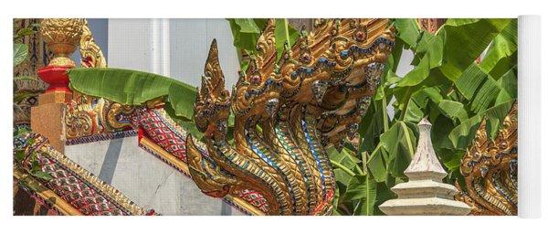 Wat Dokmai Phra Ubosot Stair Naga Dthb1783 Yoga Mat