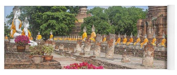 Wat Phra Chao Phya-thai Buddha Images And Ruined Chedi Dtha004 Yoga Mat